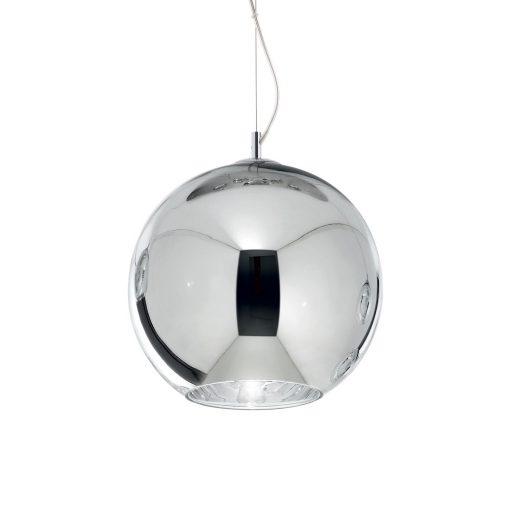 Moderný luster so sférickým difúzorom v chrómovej farbe NEMO SP1 D40   Ideal Lux