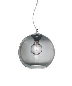 Moderný luster so sférickým difúzorom v dymovej farbe NEMO SP1 D30 | Ideal Lux