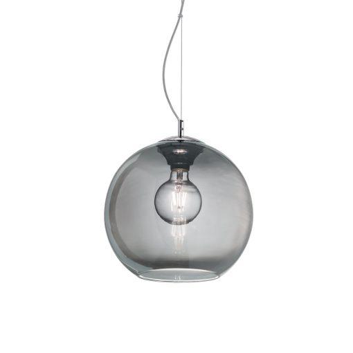 Moderný luster so sférickým difúzorom v dymovej farbe NEMO SP1 D30   Ideal Lux