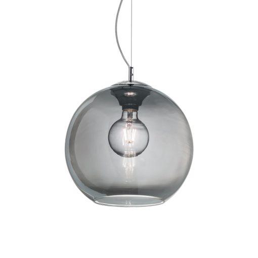 Moderný luster so sférickým difúzorom v dymovej farbe NEMO SP1 D40 | Ideal Lux