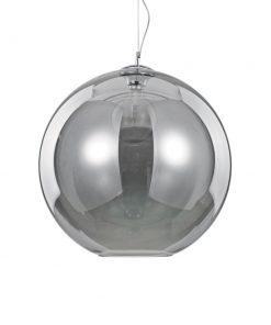 Moderný luster so sférickým difúzorom v dymovej farbe NEMO SP1 D50 | Ideal Lux