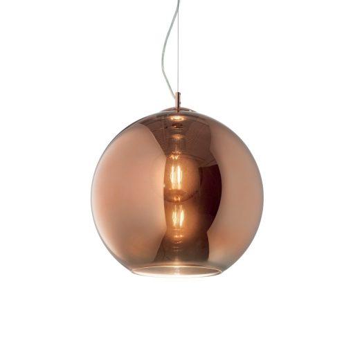 Moderný luster so sférickým difúzorom v medenej farbe NEMO SP1 D40 | Ideal Lux