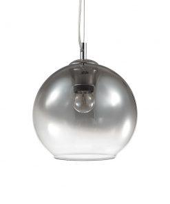 Moderný luster so sférickým difúzorom vo vyblednutej chrómovej farbe NEMO SP1 D20 | Ideal Lux