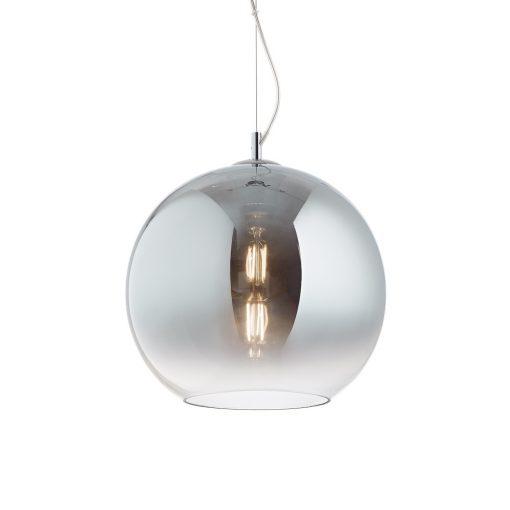 Moderný luster so sférickým difúzorom vo vyblednutej chrómovej farbe NEMO SP1 D40   Ideal Lux