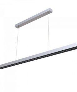 Pracovné svietidlo - Závesné lineárne svietidlo 2x30W, 4000K, 3300lm, strieborné.