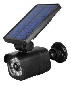 LED nástenné solárne svietidlo s pohybovým senzorom a falošnou kamerou, 4W, IP65, 200lm.