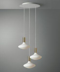 3-svetelné závesné svietidlo ROMA s porcelanovými žiarovkami XL IDRA
