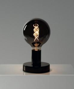 Čierna kovová stolná lampa s dymovou žiarovkou SPHERE| Daylight Italia