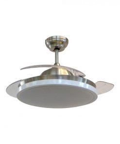 Stropný LED ventilátor 35 W, 3 lopatky s 30W LED žiarovkou, 3v1 zmena farby