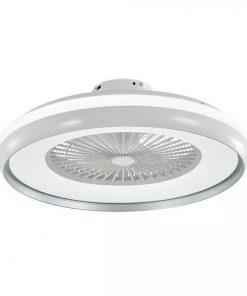 Stropný ventilátor so svietidlom a diaľkovým ovládačom v sivom prevedení