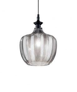 Dizajnové sklenené svietidlo LORD SP1 s dymovým sklom | Ideal Lux