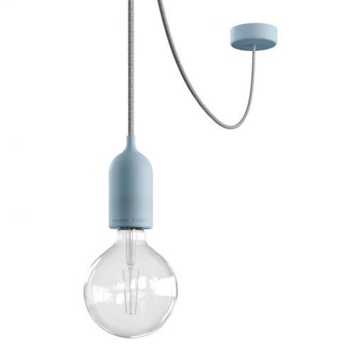 Vonkajšie závesné svietidlo v modrom prevedení, IP65, šedý 5metrový kábel