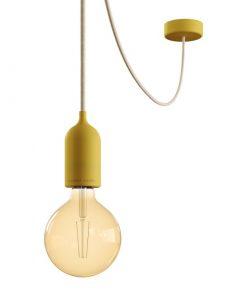 Vonkajšie závesné svietidlo v žltom prevedení, IP65, žltý 5metrový kábel
