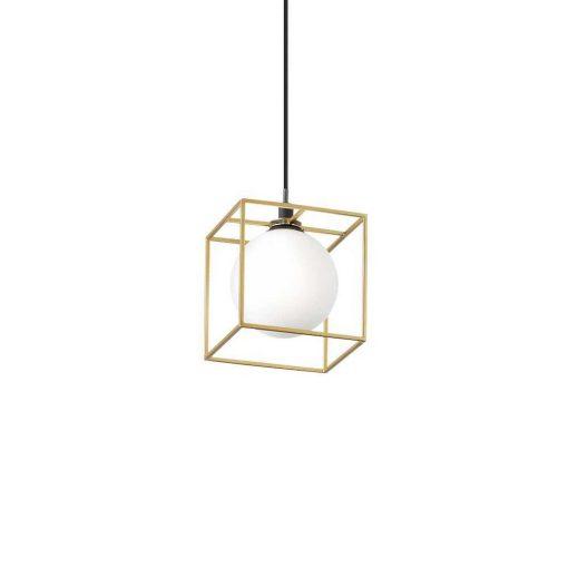 Závesná lampa v mosádznej farbe LINGOTTO SP1 | Ideal Lux