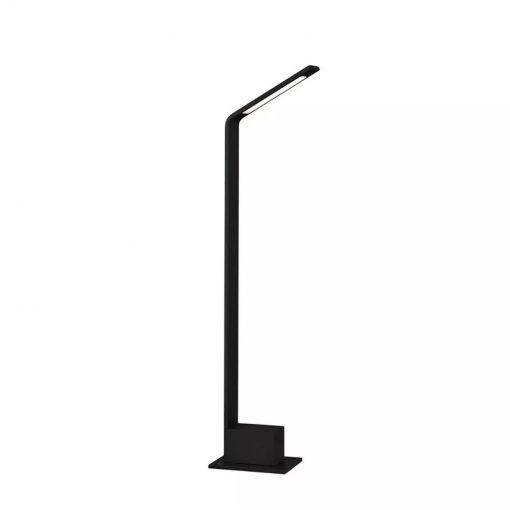 Záhradné LED stĺpikové svietidlo 6W, 4000K, 600lm, IP54, čierne