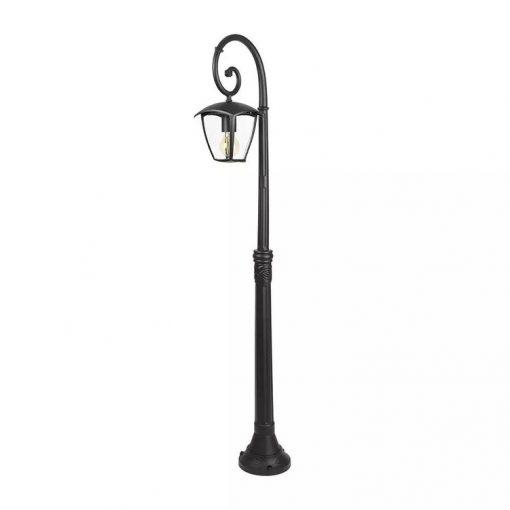 Záhradné stĺpové svietidlo OLD v čiernej farbe